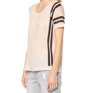 Madewell | Pink Linen Banded Short Sleeve Top | XS